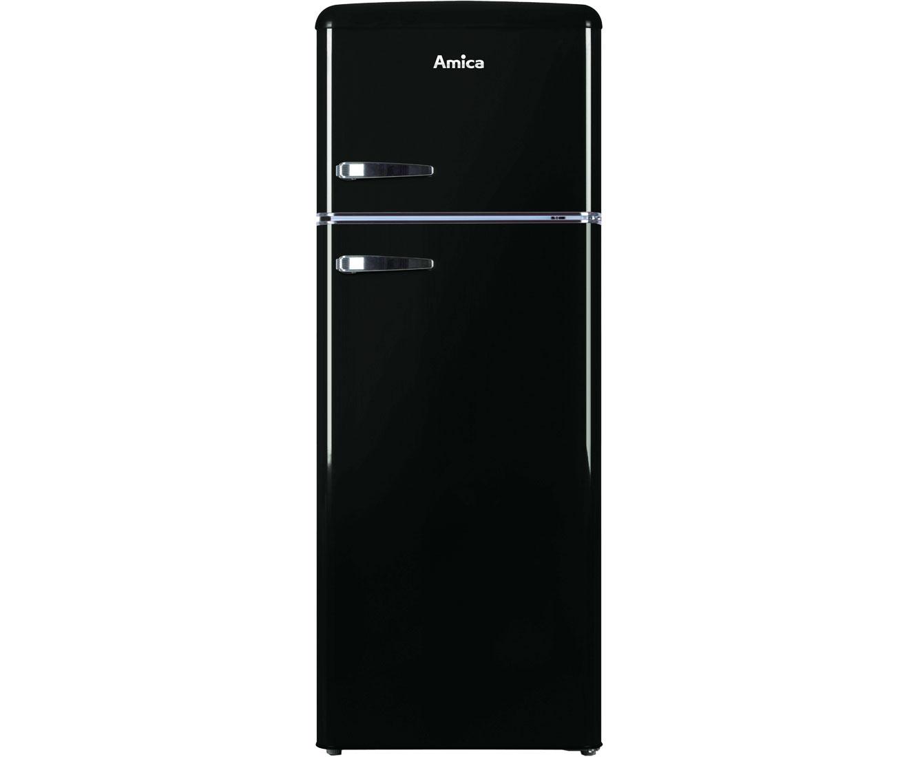 Kühlschrank Retro Schwarz : Amica kgc s kühl gefrierkombination retro design freistehend