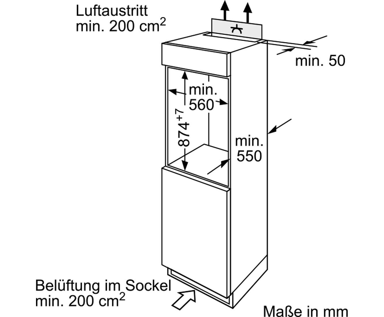 Bosch Serie 2 KIL18V51 Einbau-Kühlschrank mit Gefrierfach - 88er ...