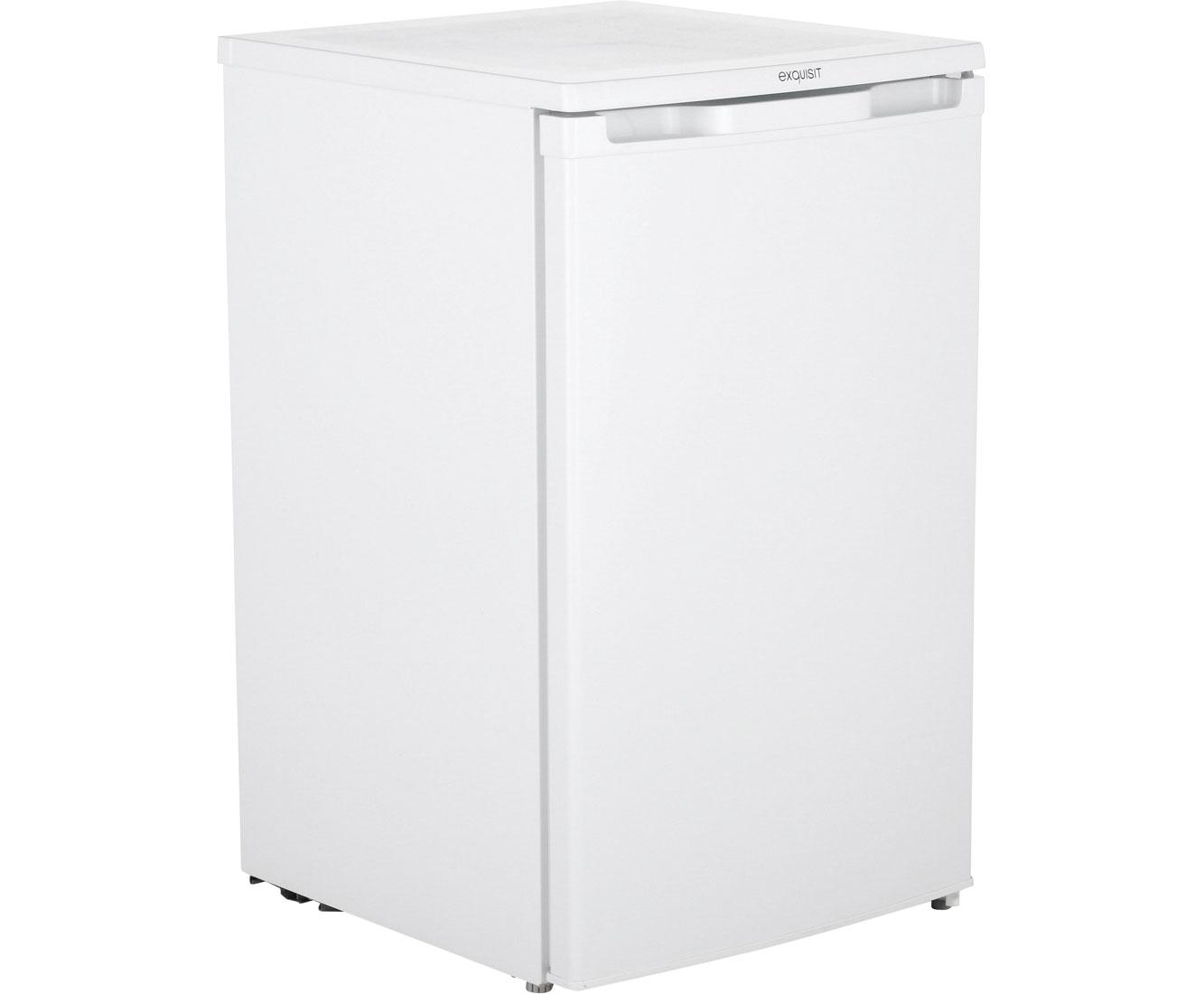 Exquisit KS 124-3 A+++ Kühlschrank mit Gefrierfach - Weiß, A+++