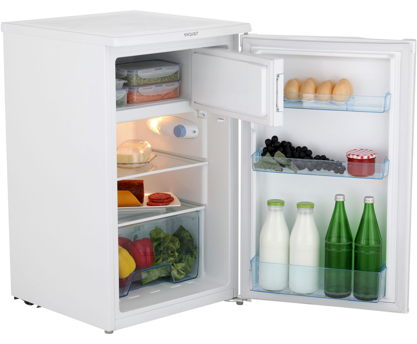Mini Kühlschrank Unter 100 Euro : Exquisit ks 124 3 a kühlschrank mit gefrierfach weiß a