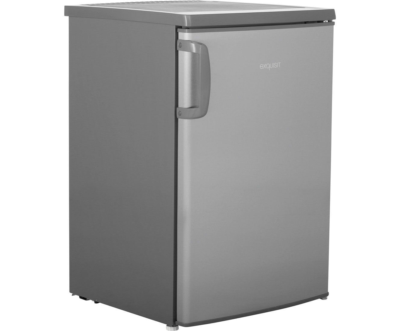 Exquisit KS 15-5 A+++ Kühlschrank mit Gefrierfach - Edelstahl, A+++
