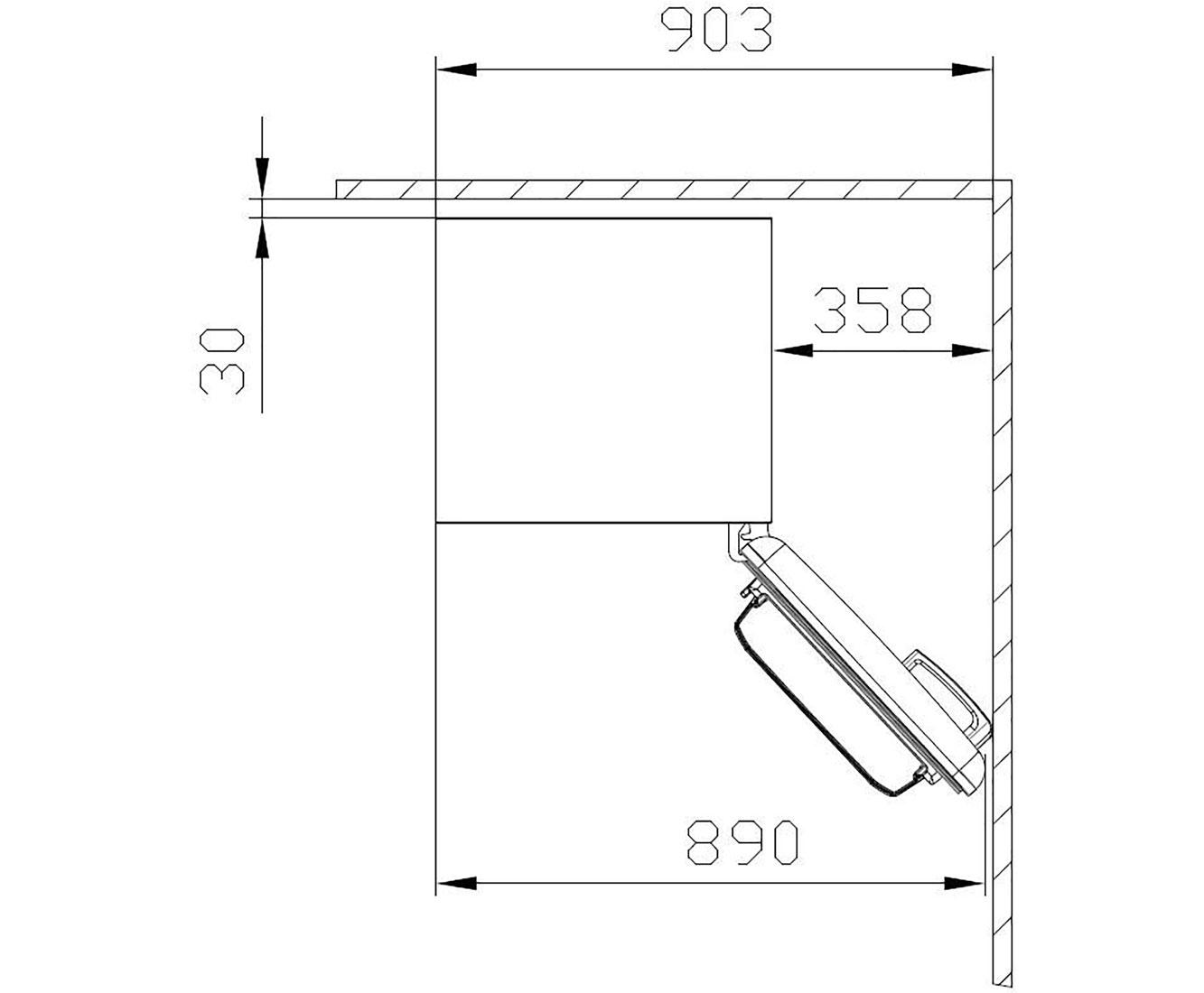 Amica KS 15614 S Kühlschrank Retro Design Freistehend 55cm Schwarz Neu