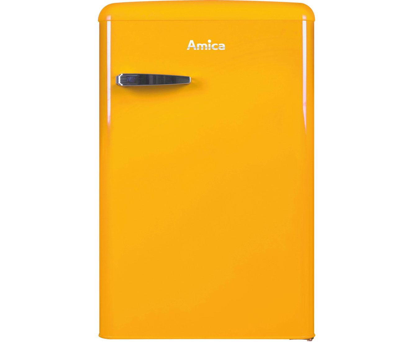 Amica Kühlschrank Retro Türkis : Amica retro design ks y kühlschrank mit gefrierfach gelb