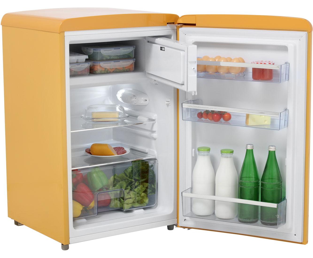 Amica Kühlschrank Mit Gefrierfach : Amica retro design ks r kühlschrank mit gefrierfach rot