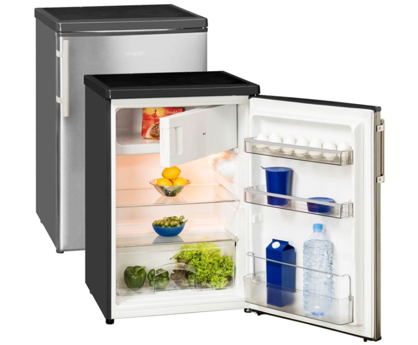 Kühlschrank Minibar Getränkekühlschrank Silber A Edelstahl Glastür 80l : Kühlschränke in aufstellung unterbauf hig farbe silber ebay