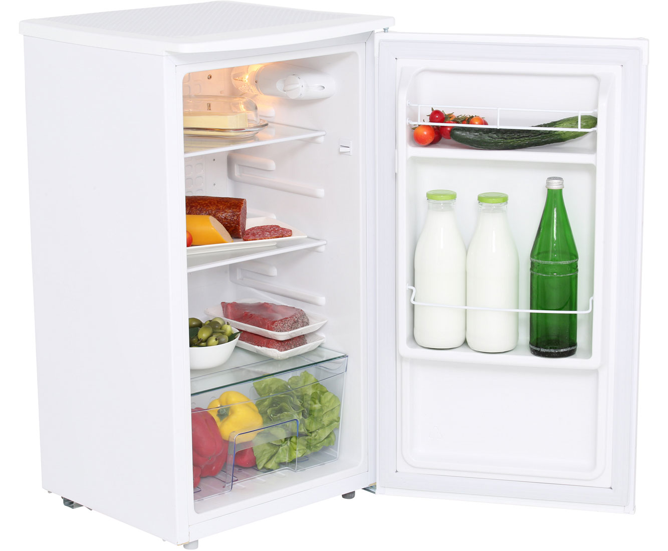 Exquisit KS 85-9 RVA+ Kühlschrank - Weiß, A+
