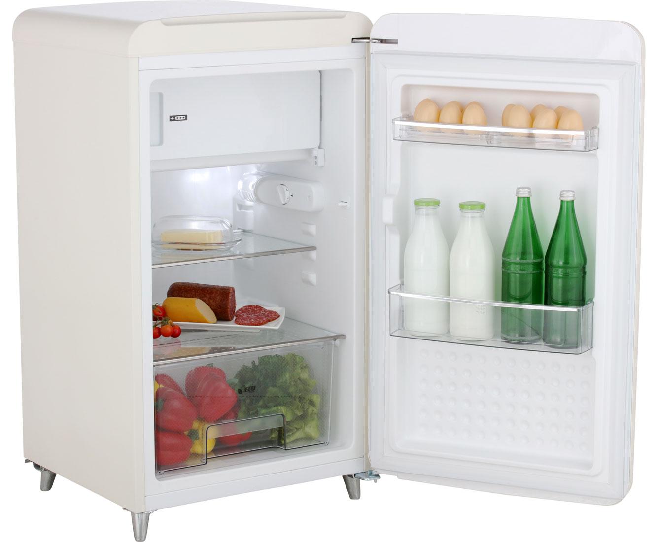 Bomann Kühlschrank Angebot : Bomann ksr kühlschrank mit gefrierfach beige retro design a