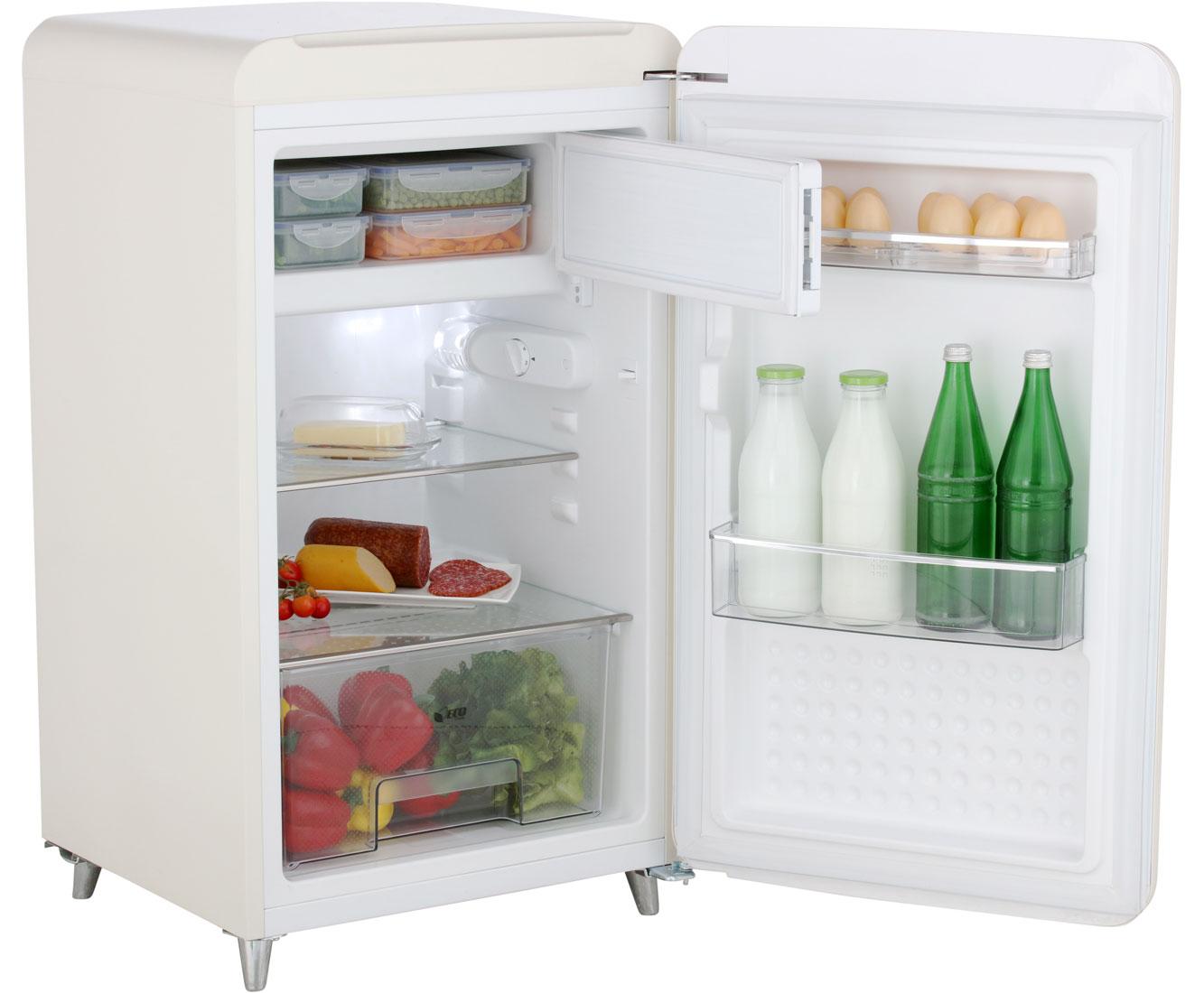 Bomann Kühlschrank Beige : Bomann ksr kühlschrank mit gefrierfach beige retro design a