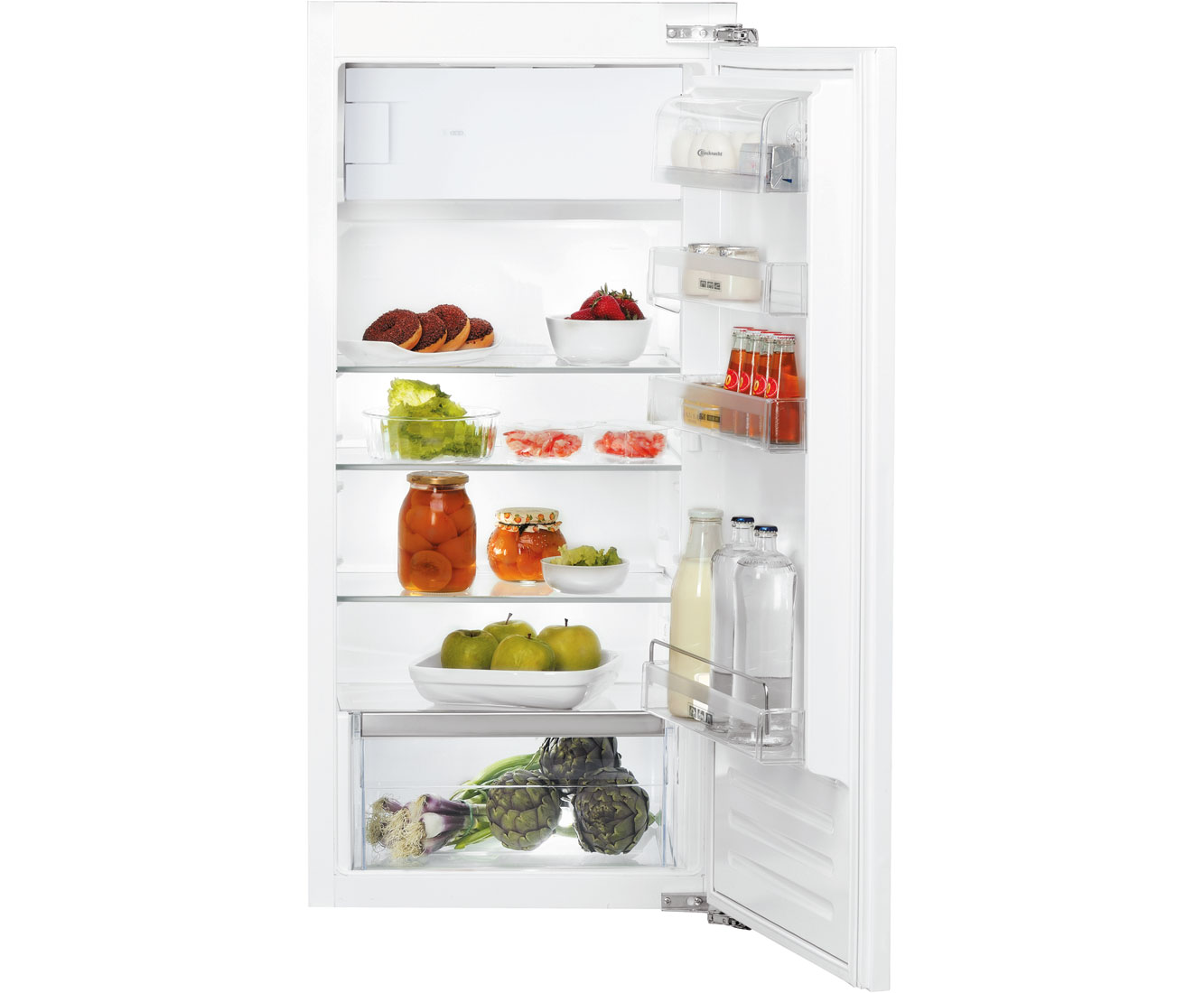 Mini Kühlschrank Zum Einbauen : Bauknecht kvie 2128 a einbau kühlschrank mit gefrierfach 122er