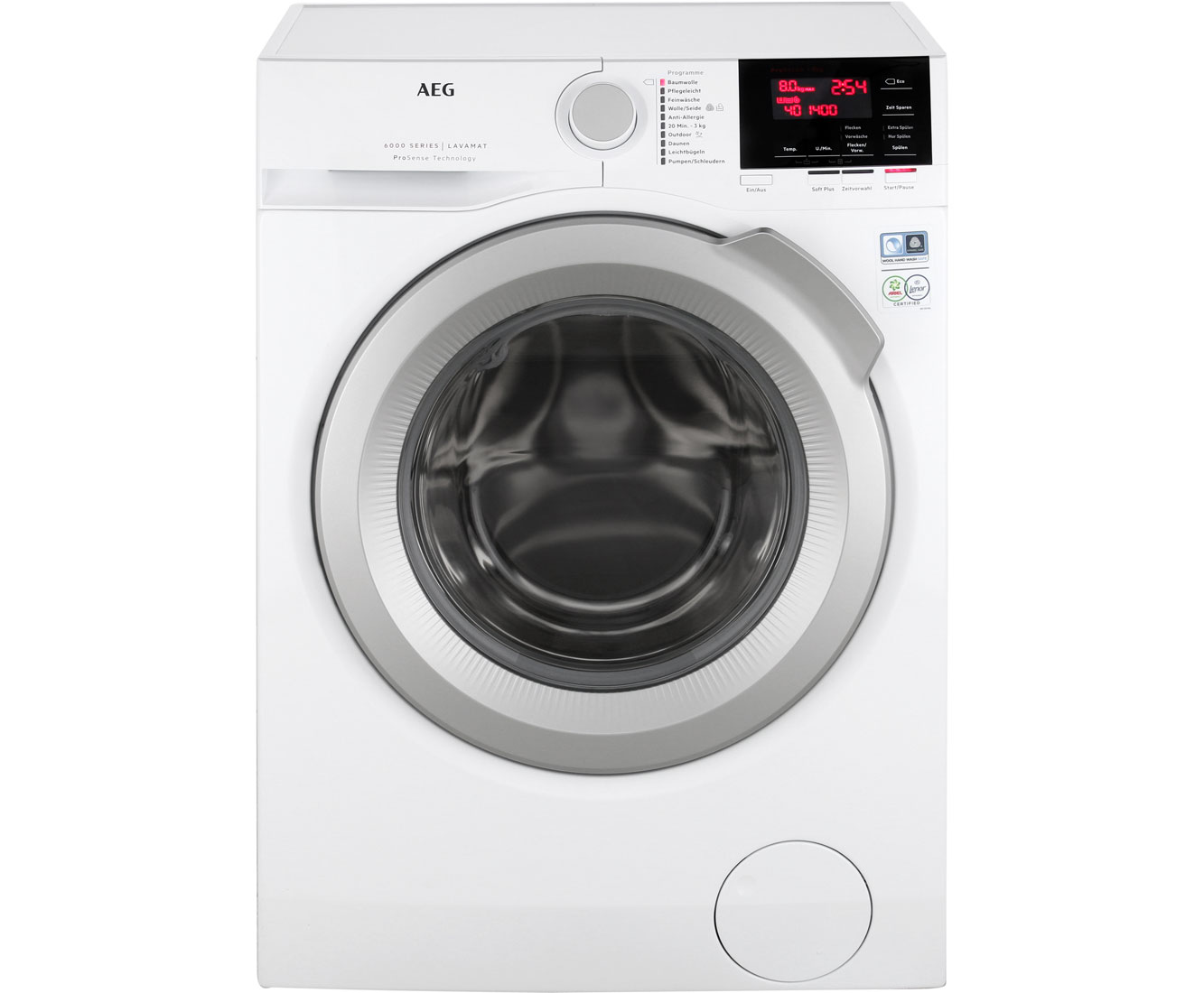 Aeg lavamat l fba waschmaschine kg u min a