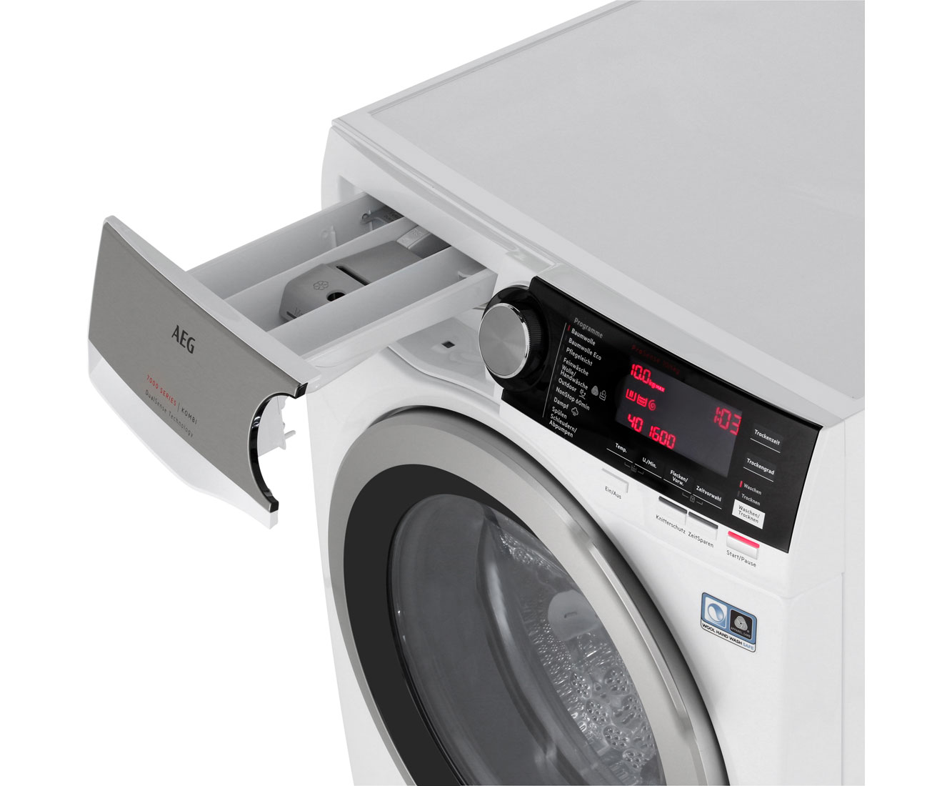 Aeg lavamat kombi l we waschtrockner kg waschen kg