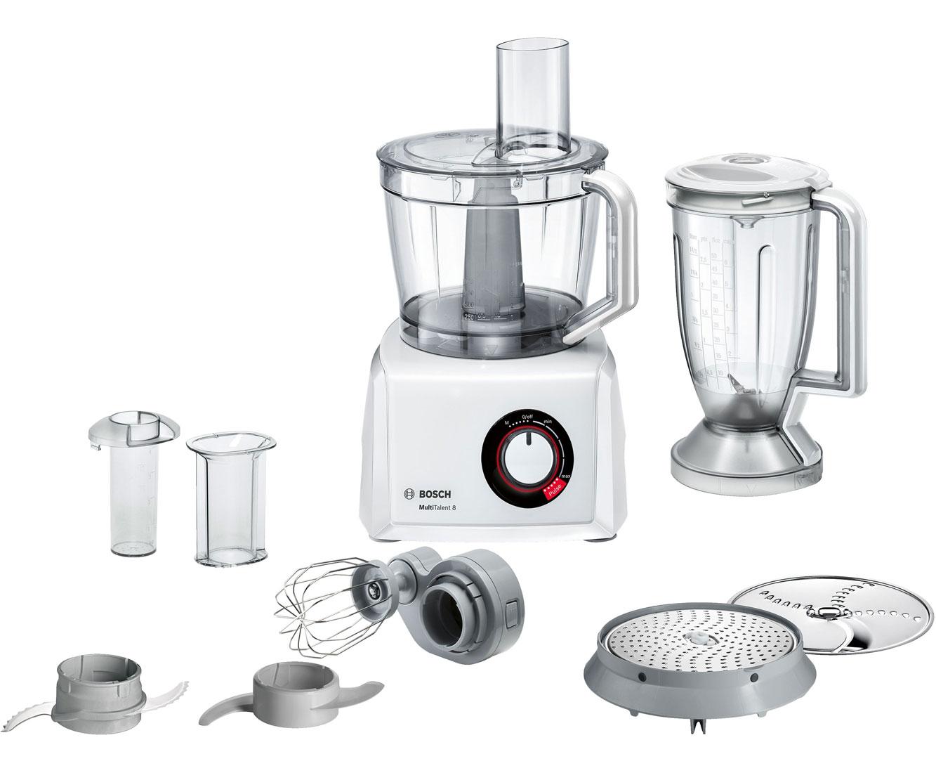 Bosch MC812W501 Küchenmaschine mit Supercut Messer und Mixer-Aufsatz -  1.000 Watt - Weiß