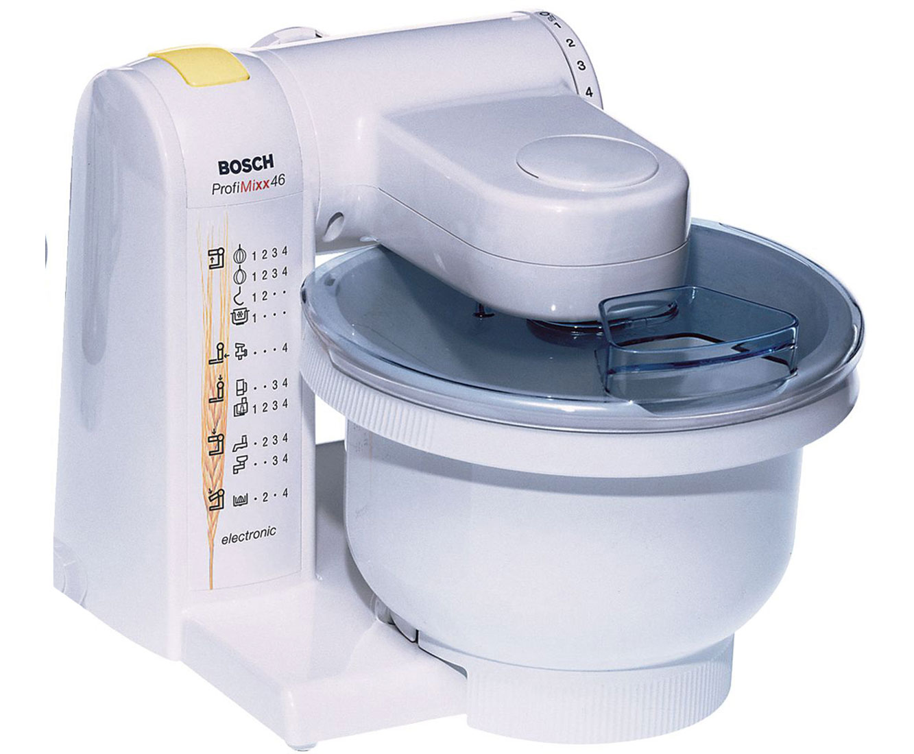 Bosch ProfiMixx MUM4655EU Küchenmaschine mit 3D Rührsystem MultiMotion  Drive und Patisserie-Set - 550 Watt - Weiß