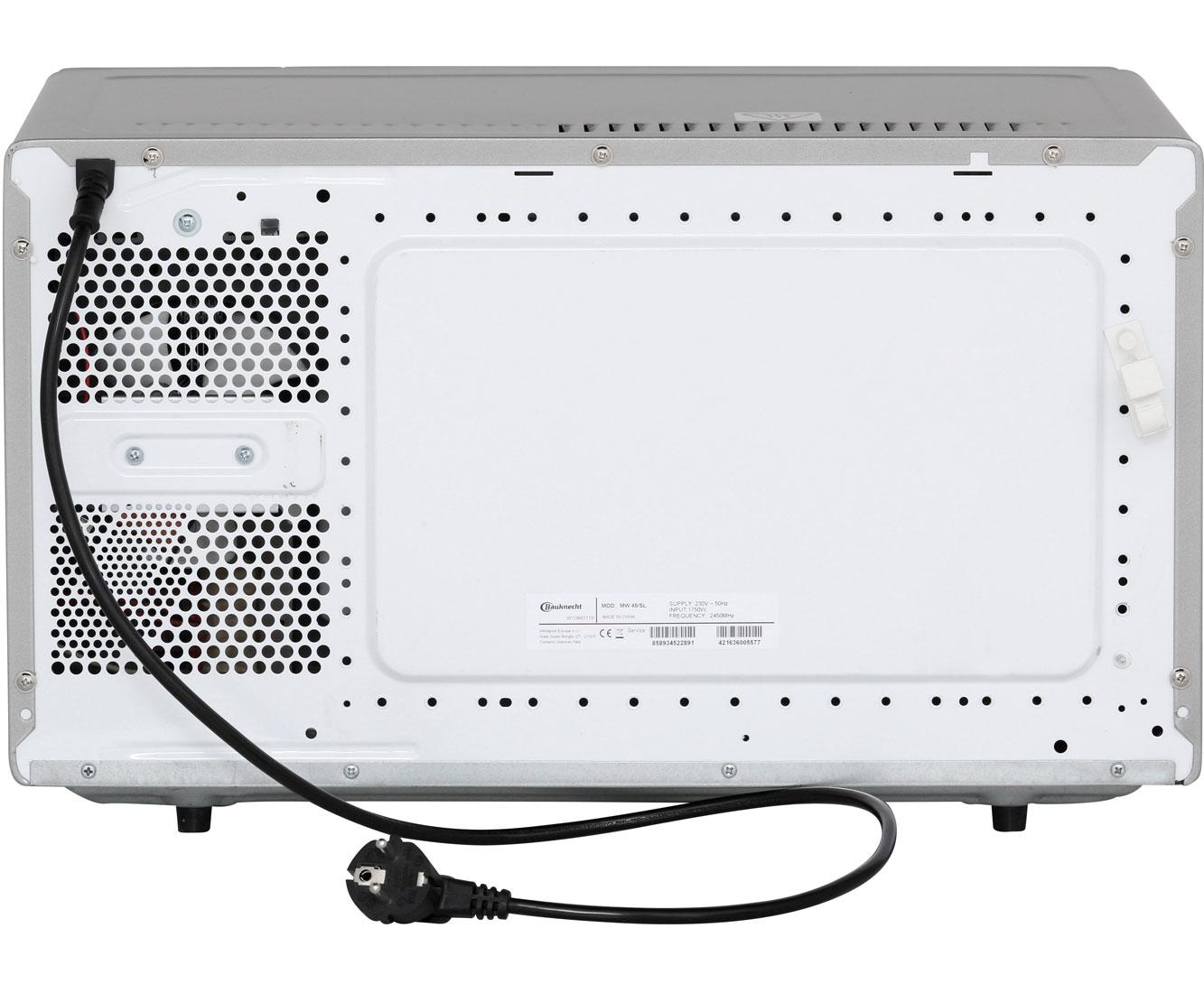 Bauknecht MW 45 SL Mikrowelle Freistehend Silber Neu