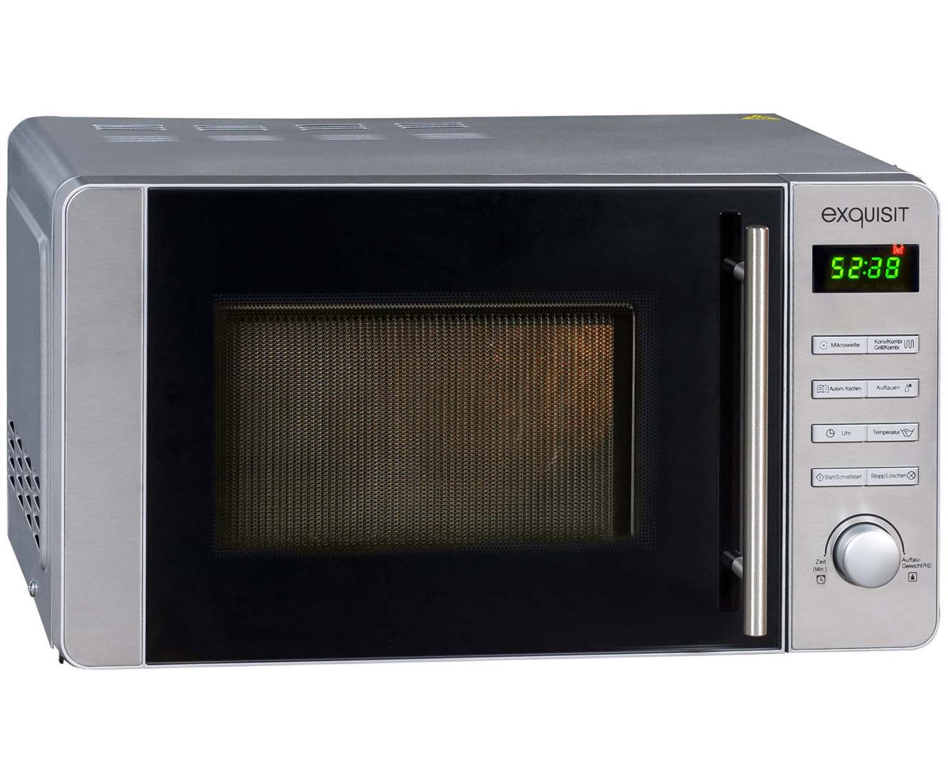 ... Exquisit MW8020H Mikrowelle Mit Heißluft Und Grill, 20 Liter   800 Watt    Silber ...