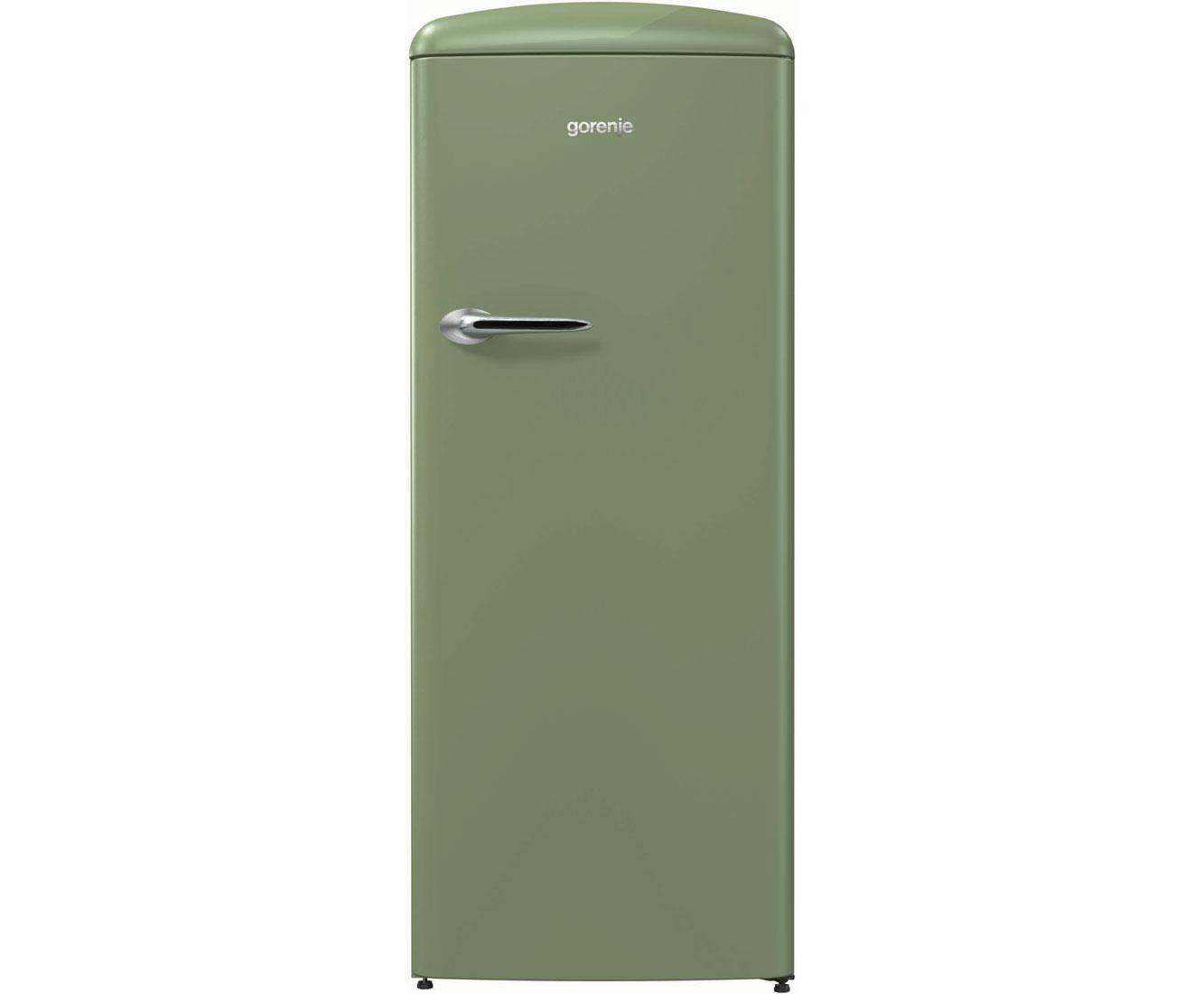 Gorenje Kühlschrank Ohne Gefrierfach : Gorenje oldtimer orb ol kühlschrank mit gefrierfach olivgrün