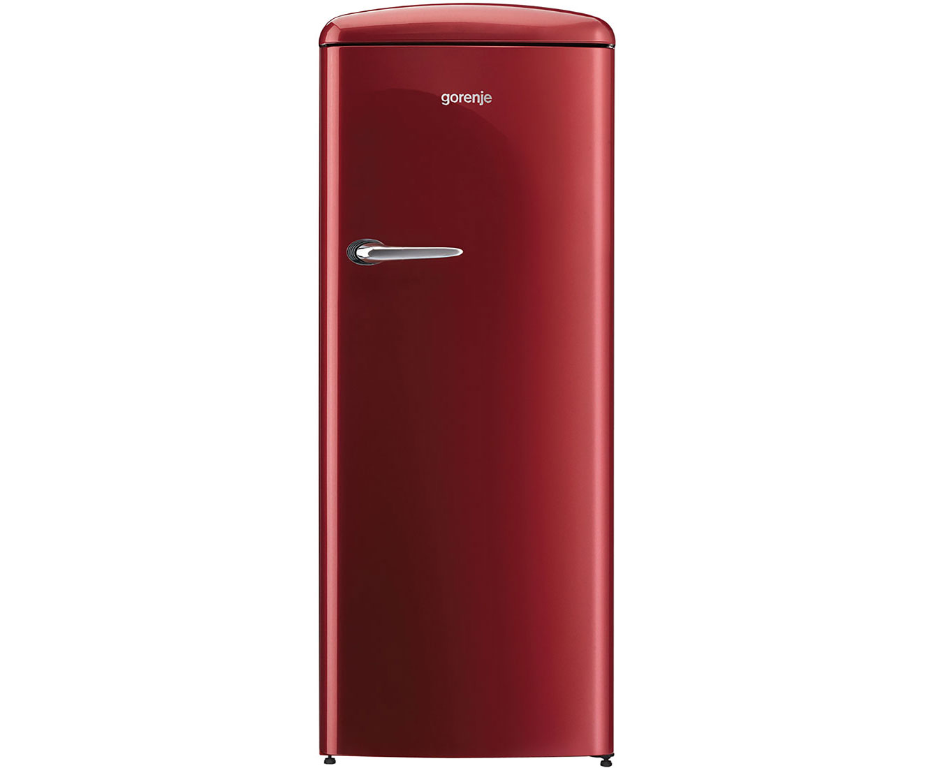 gorenje orb 153 r retro collection k hlschrank freistehend 60cm bordeaux rot ebay. Black Bedroom Furniture Sets. Home Design Ideas