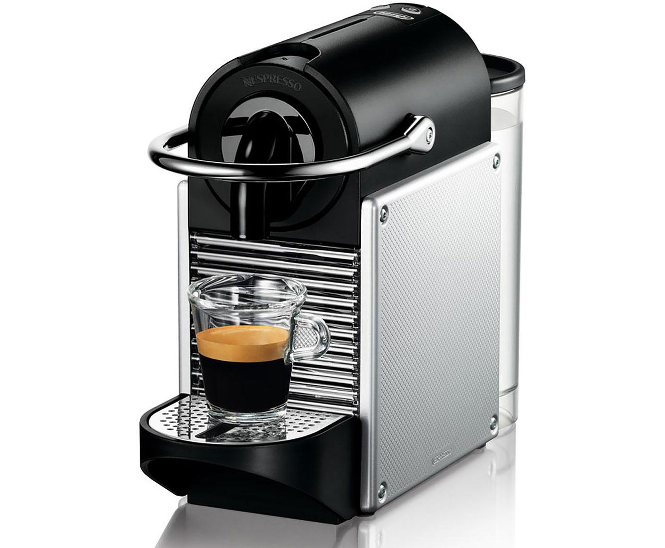 Pixie EN 125.S Kaffeemaschinen - Schwarz / Aluminium