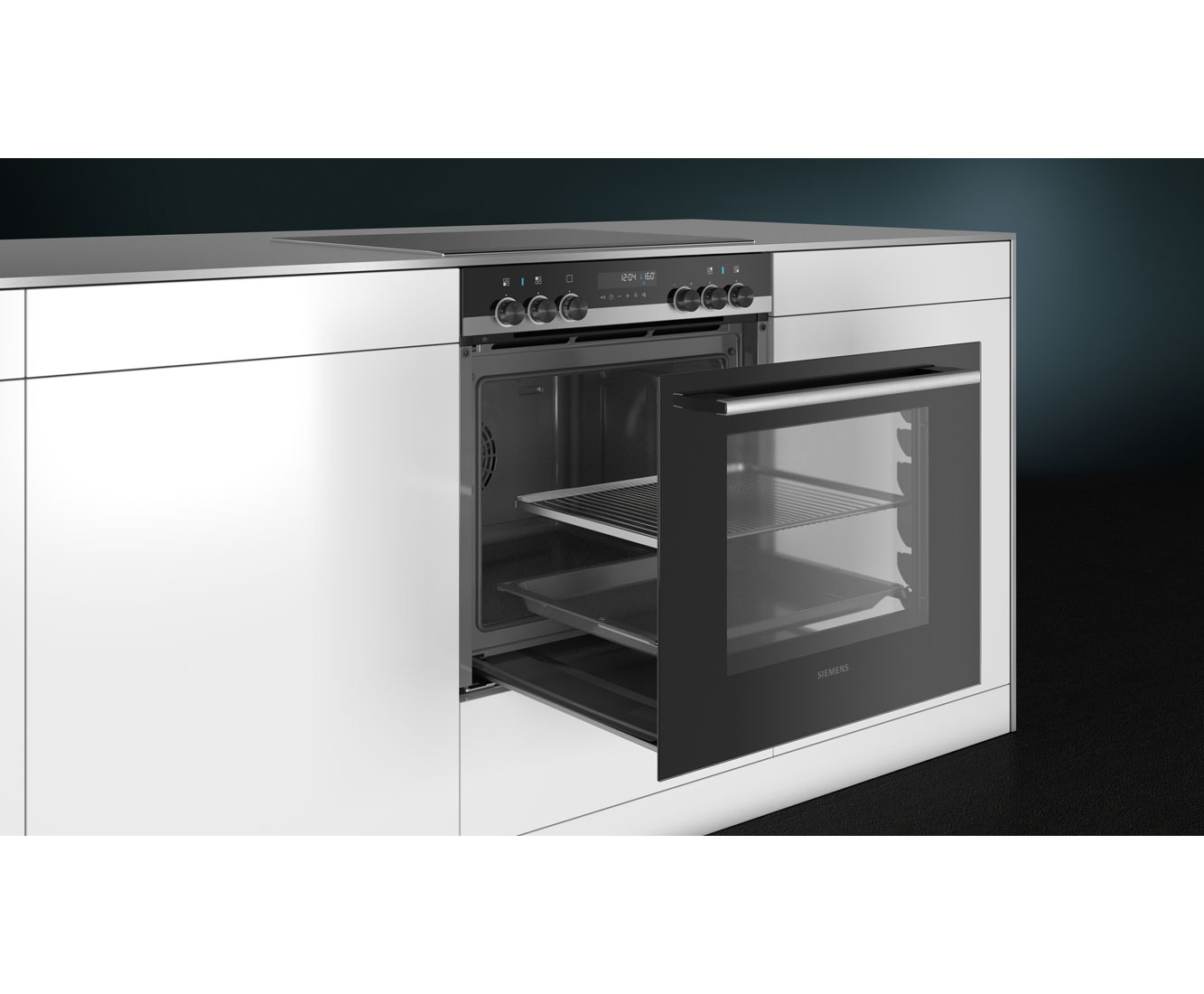 Siemens Pq521kb00 Einbauherd Set Mit Glaskeramik Kochfeld Edelstahl