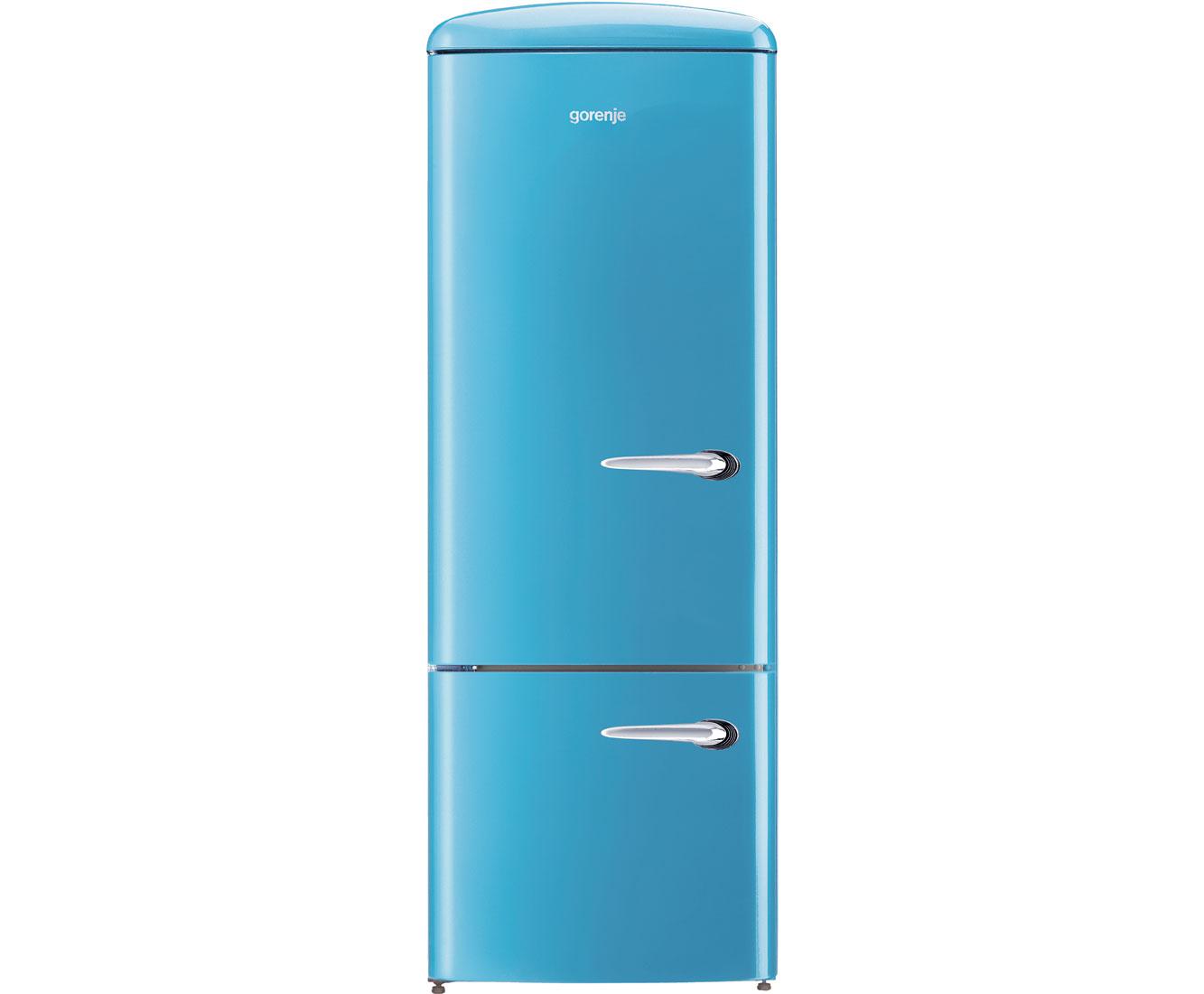 Retro Kühlschrank Gefrierkombination : Gorenje rk obl l kühl gefrierkombination er breite