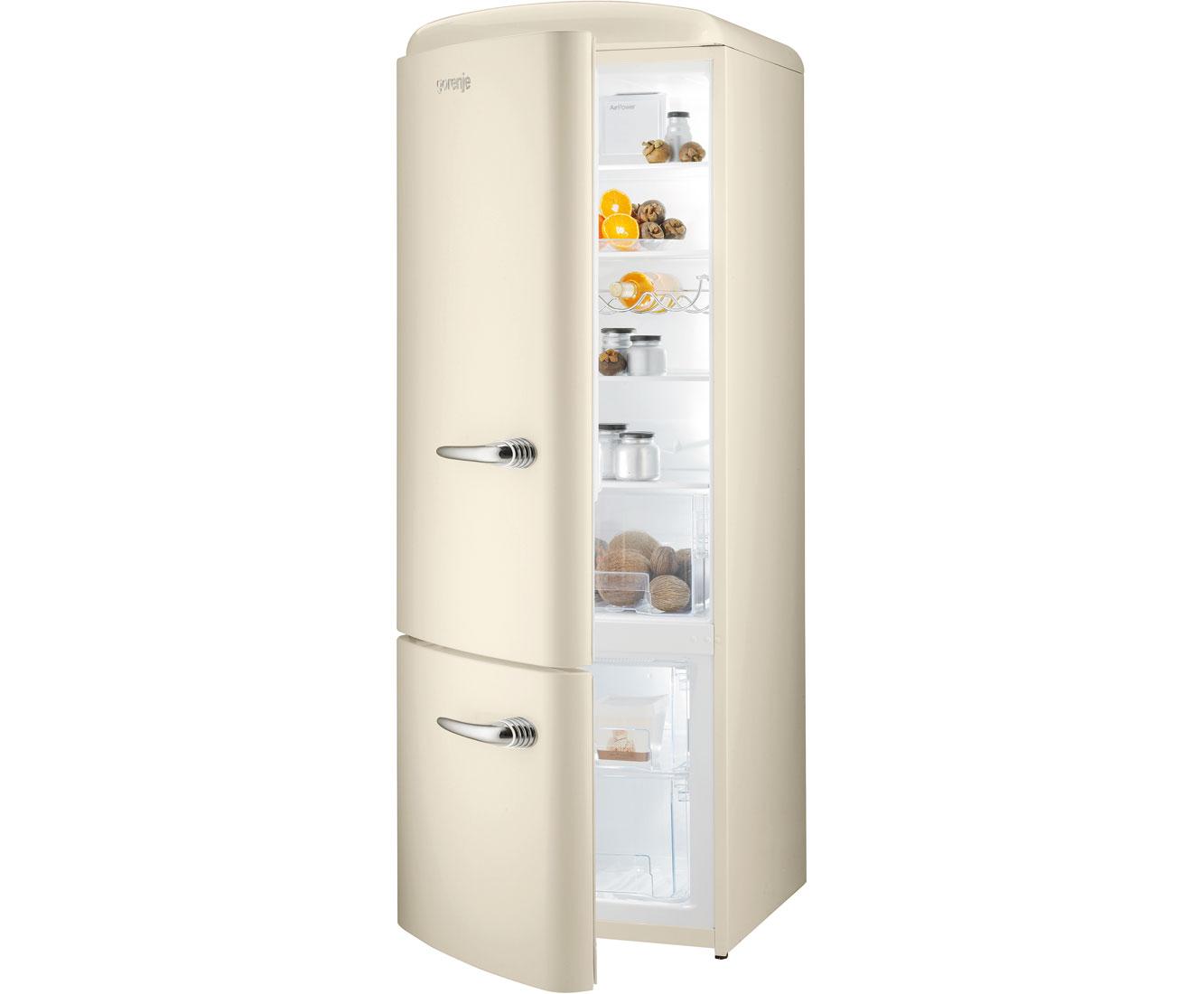 Retro Kühlschrank Creme : Gorenje rk 60319 oc l kühl gefrierkombination 60er breite beige