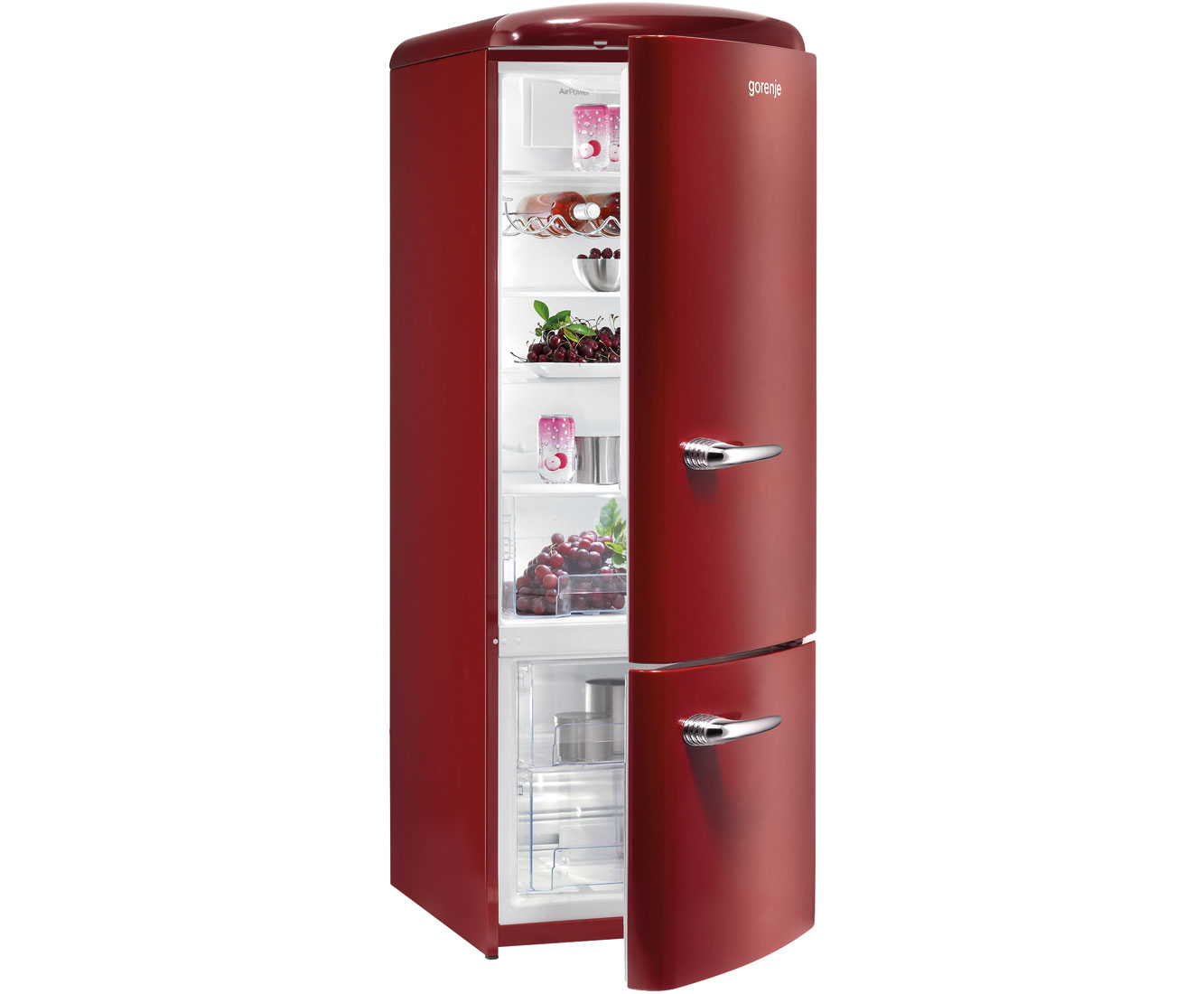gorenje retro collection rk 60319 or k hl gefrierkombination 60er breite bordeaux rot retro. Black Bedroom Furniture Sets. Home Design Ideas