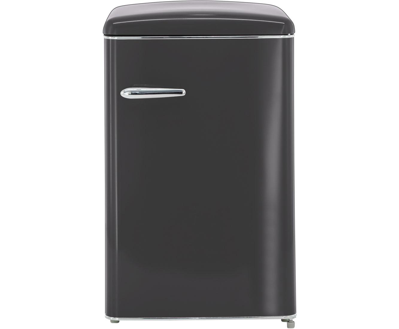 Kühlschrank Schwarz : Exquisit rks rva kühlschrank matt schwarz retro design