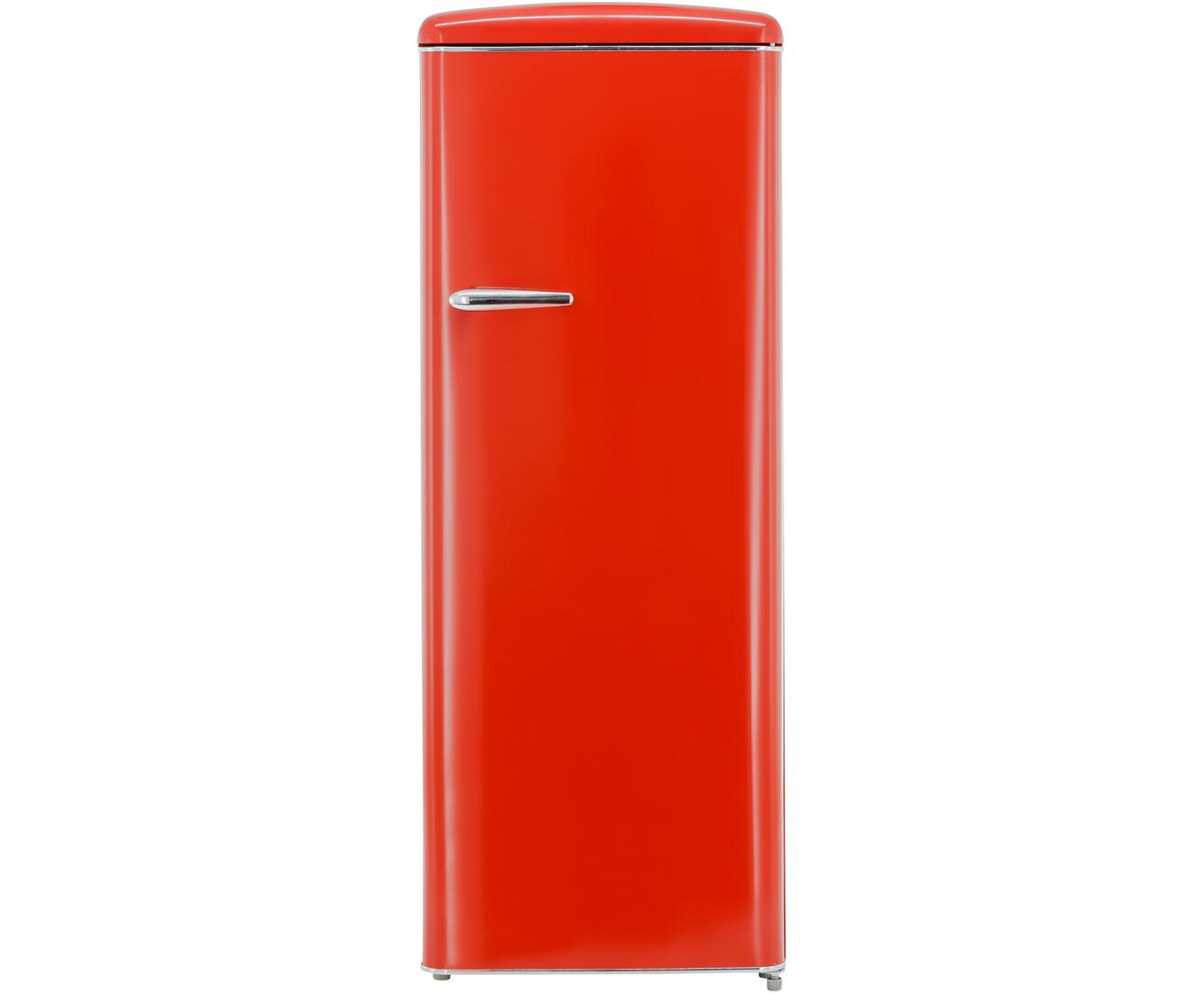 Retro Kühlschrank Rot Günstig : Exquisit rks rva kühlschrank rot retro design a