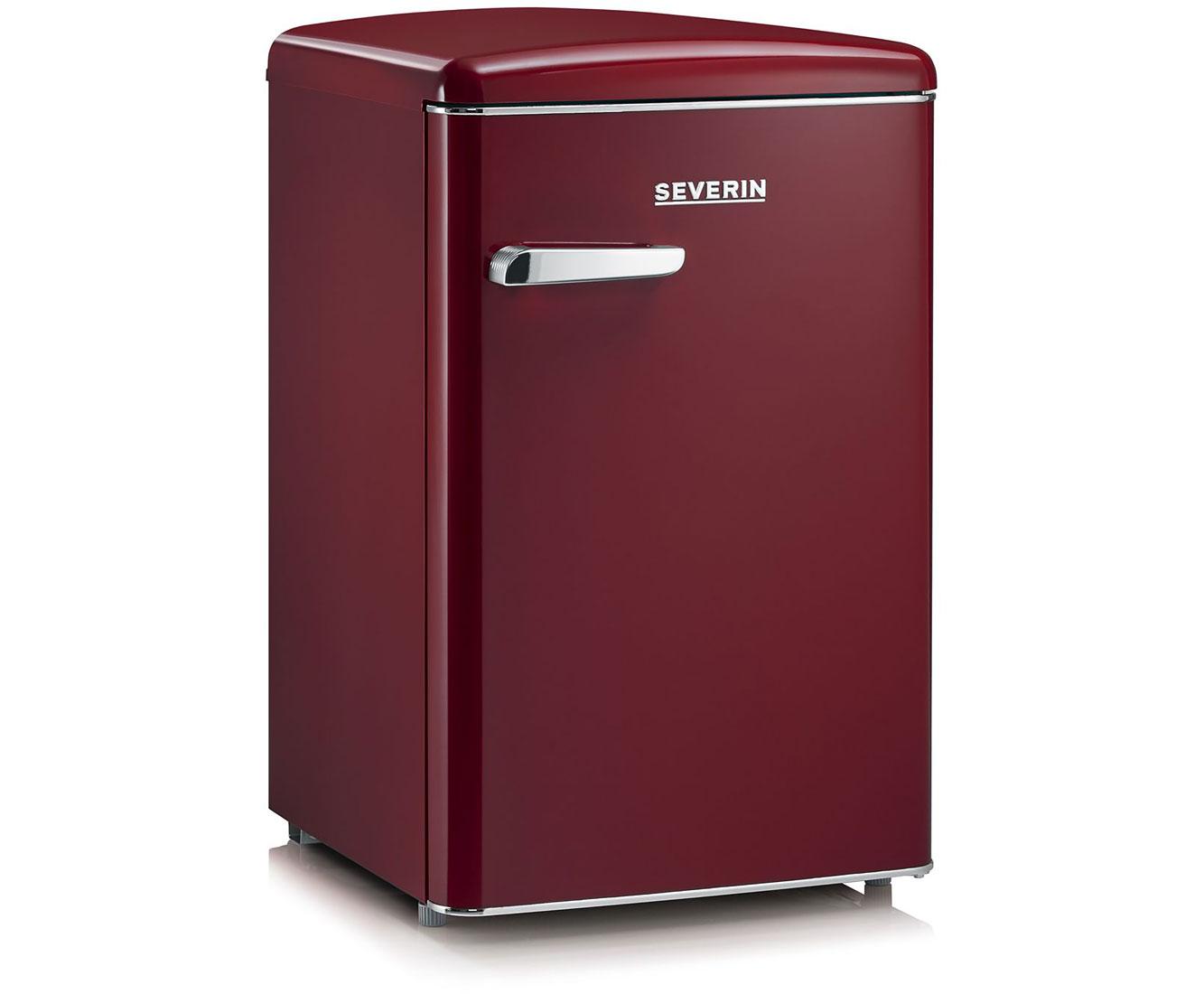 Retro Kühlschrank Severin : Severin rks 8831 kühlschrank mit gefrierfach bordeaux rot retro