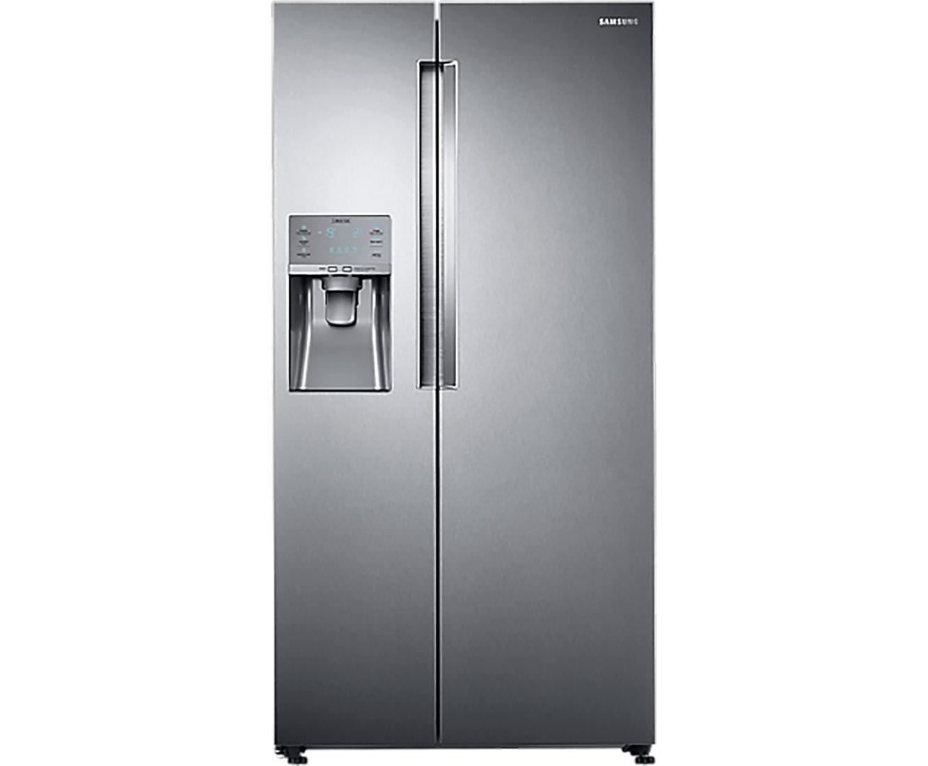 Amerikanischer Kühlschrank Edelstahl : Samsung rs fk sl eg side by side freistehend edelstahl ebay