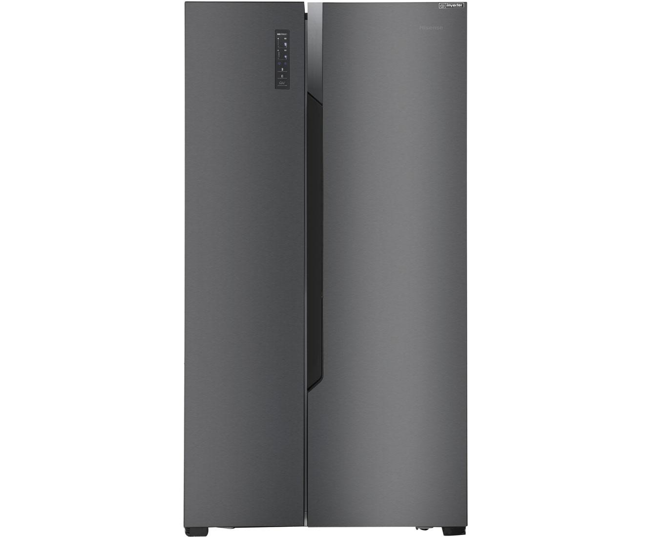 Amerikanischer Kühlschrank Schwarz : Hisense rs670n4bf3 amerikanischer side by side 516l schwarz