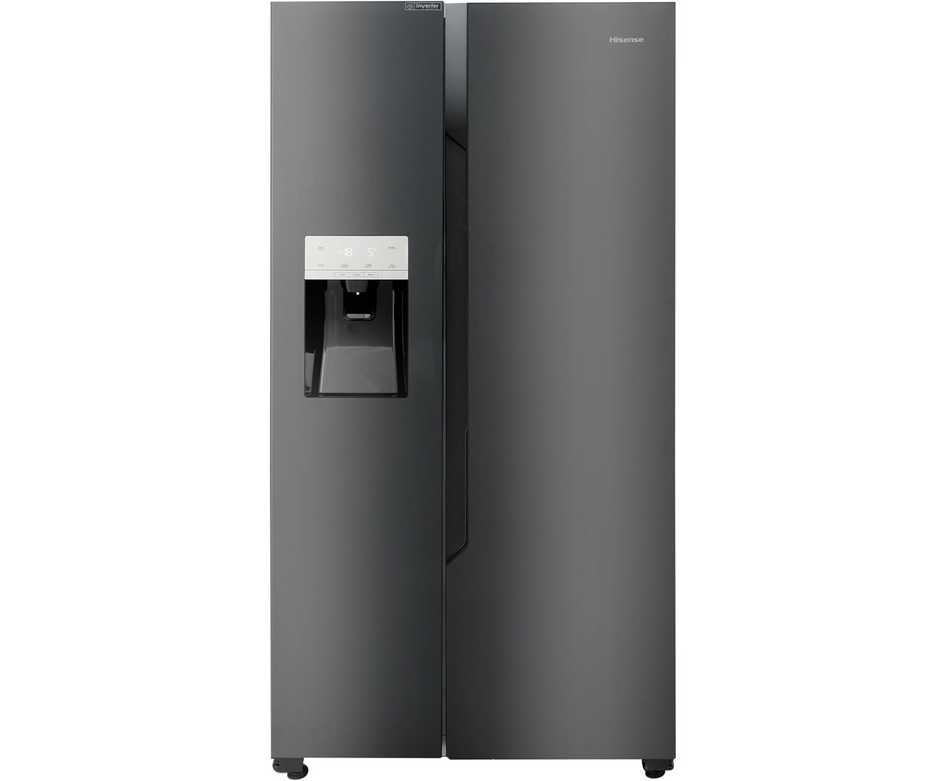 Amerikanischer Kühlschrank Schwarz : Hisense rs694n4tf2 amerikanischer side by side mit wasserspender