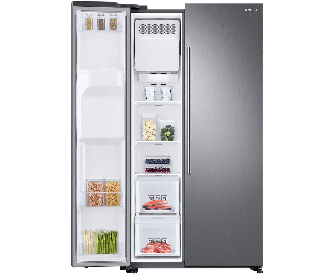 Kühlschrank Wasserleitung : Samsung rs6jn8210s9 eg amerikanischer side by side mit wasserspender