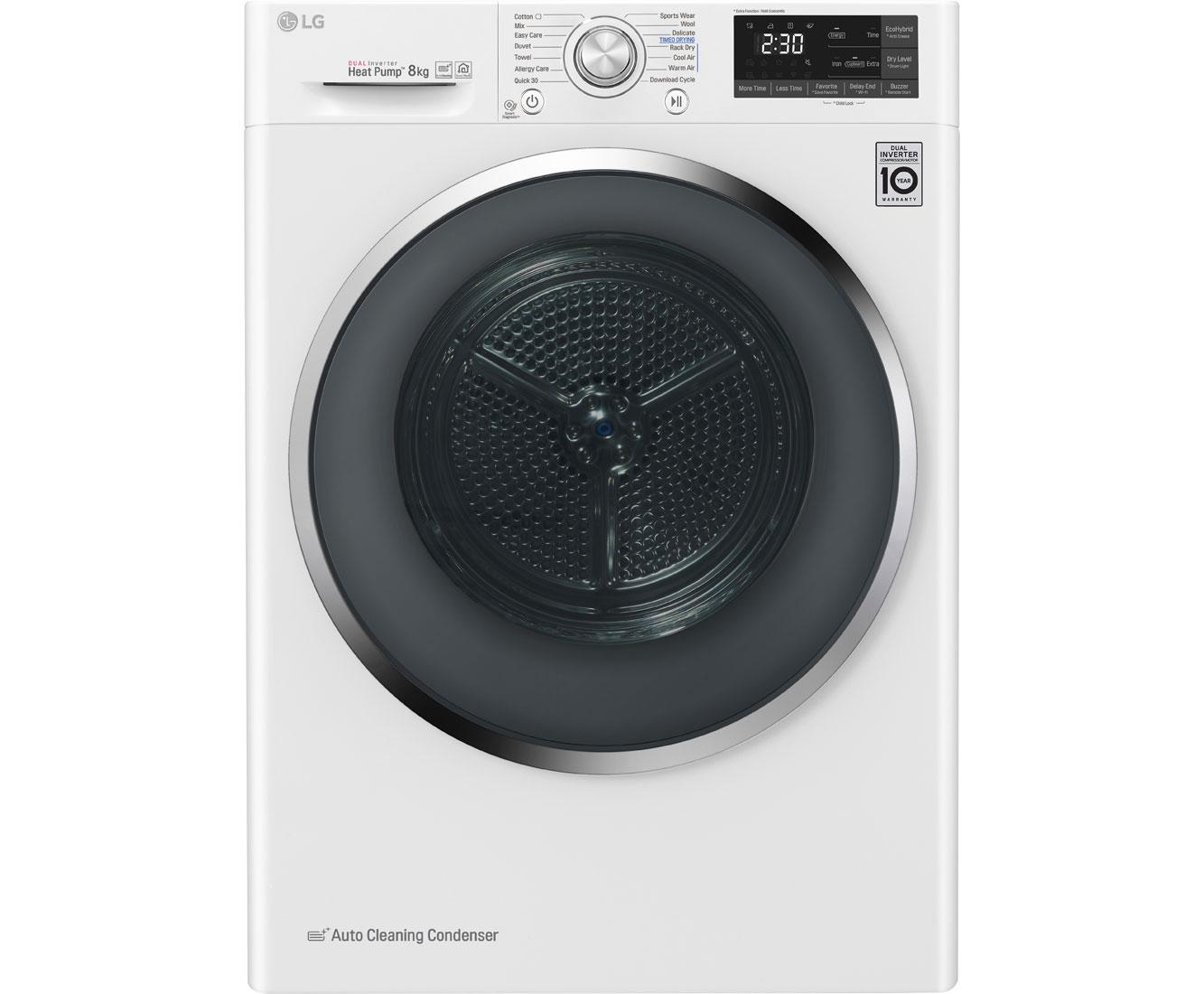 LG RT8DIH2 Wärmepumpentrockner - Weiß   Bad > Waschmaschinen und Trockner   Weiß   LG