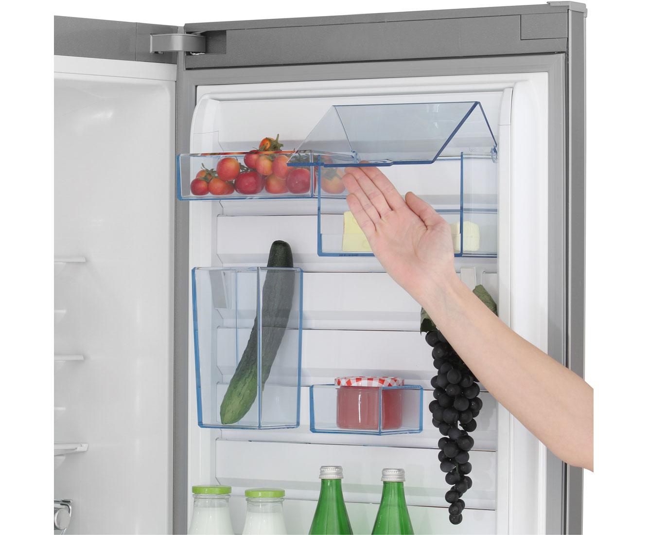 Aeg Kühlschrank Santo Temperatur Einstellen : Aeg santo s cmxf kühl gefrierkombination mit no frost er