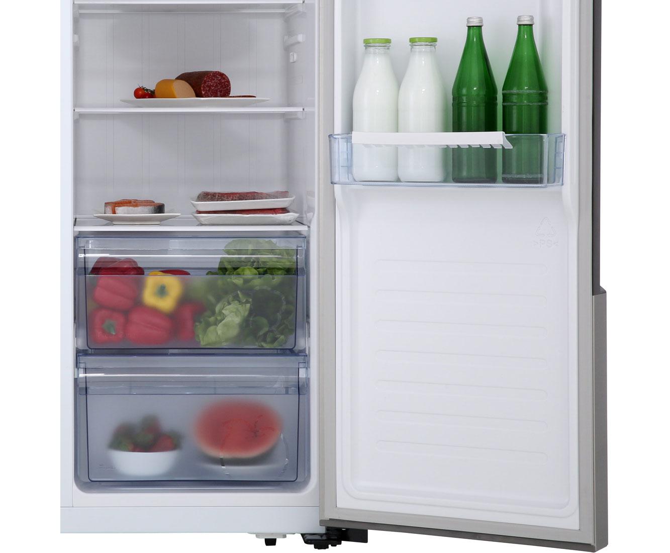 Amerikanischer Kühlschrank Eiswürfel Riechen : Hisense sbs a el amerikanischer side by side l