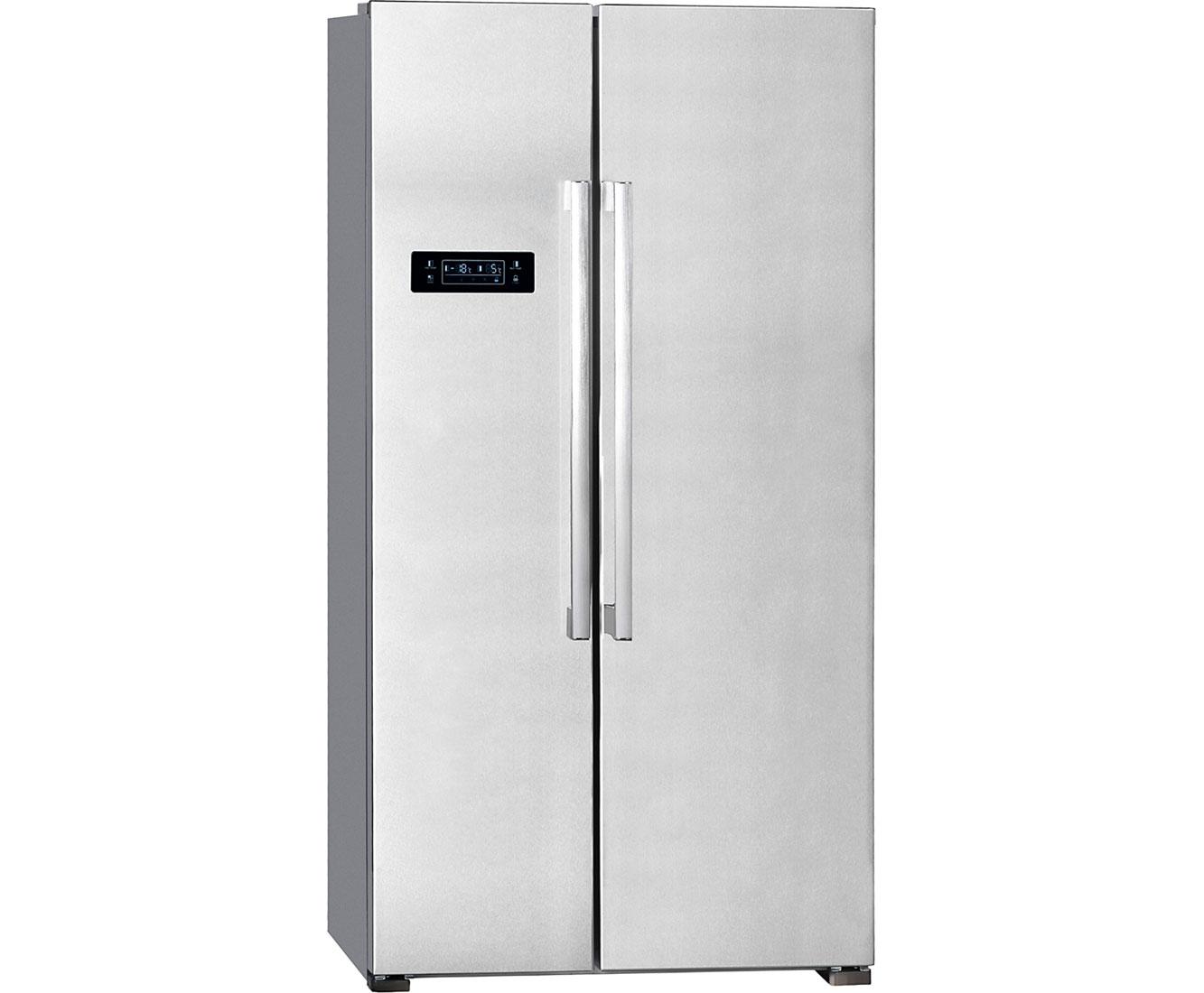 Amerikanischer Kühlschrank Freistehend : Exquisit sbs a amerikanischer side by side l