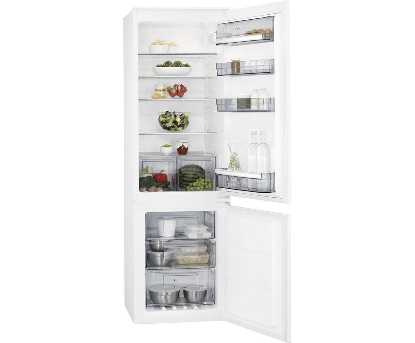 Aeg Kühlschrank Gefrierkombination : Aeg sce ns einbau kühl gefrierkombination mit no frost er