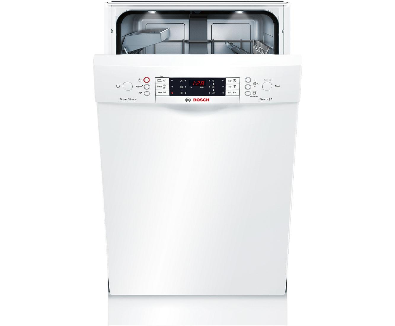 Bosch Serie 6 SPS66PW00E Geschirrspüler 45 cm - Weiß | Küche und Esszimmer > Küchenelektrogeräte > Gefrierschränke | Weiß | Bosch