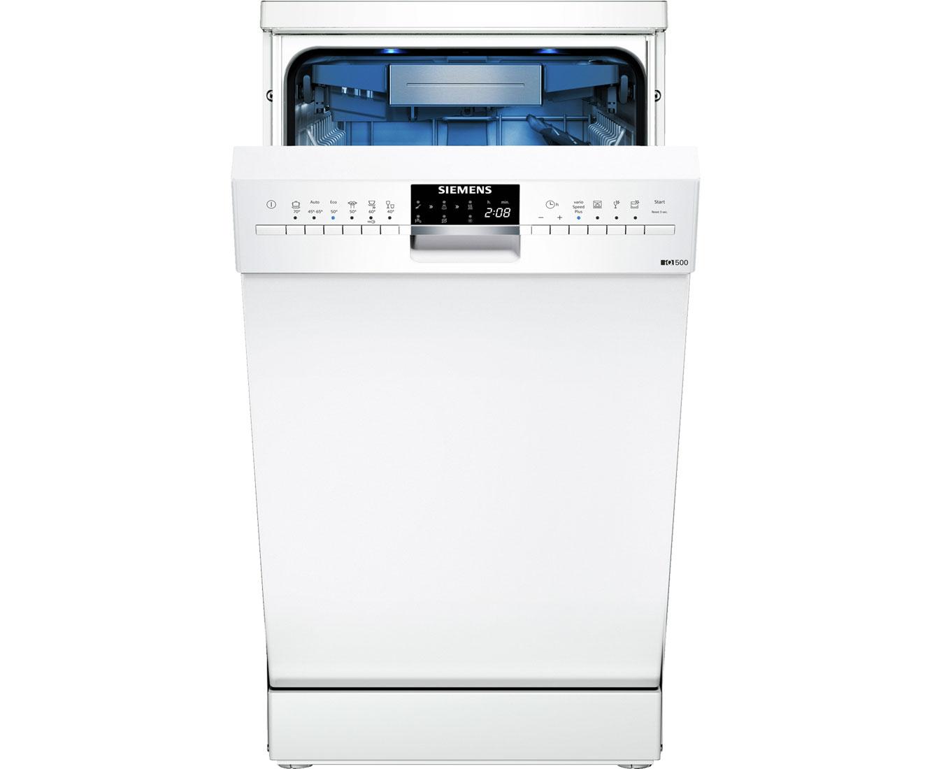 Siemens iq500 sr256w01te stand geschirrspüler 45 cm weiß a
