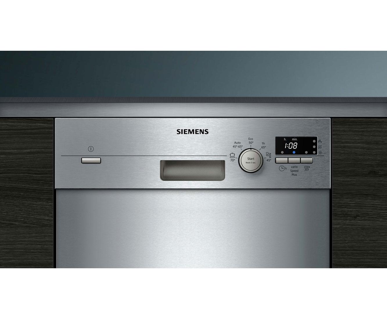 Siemens iQ100 SR415S03CE Unterbau-Geschirrspüler - 45 cm, Edelstahl, A+