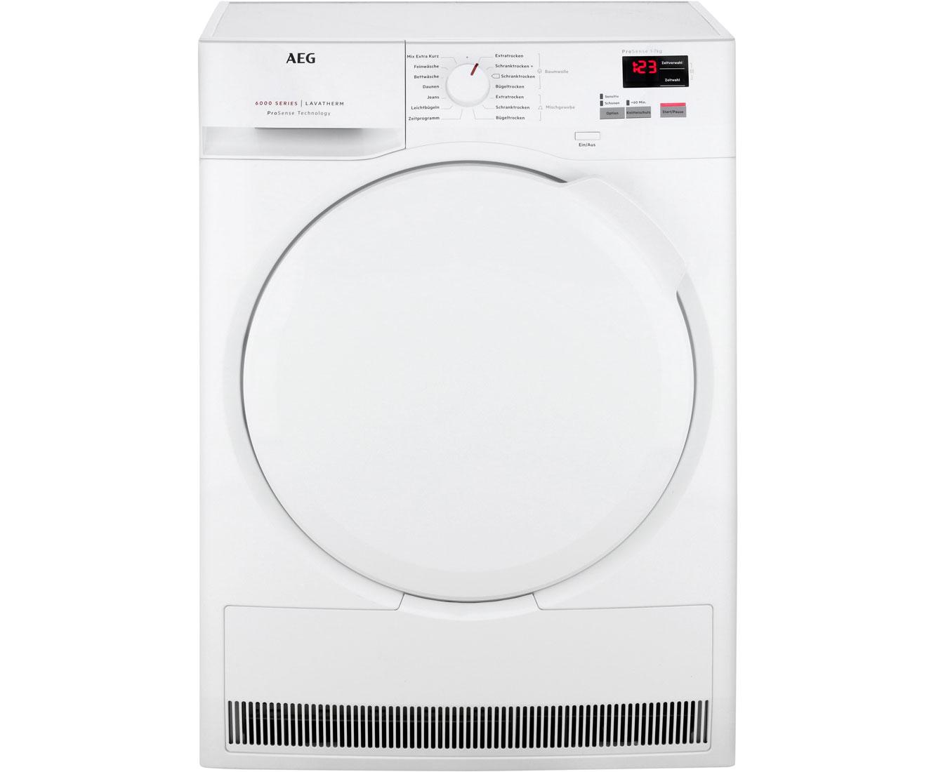 Aeg t6db40370 kondenstrockner 7 kg weiß