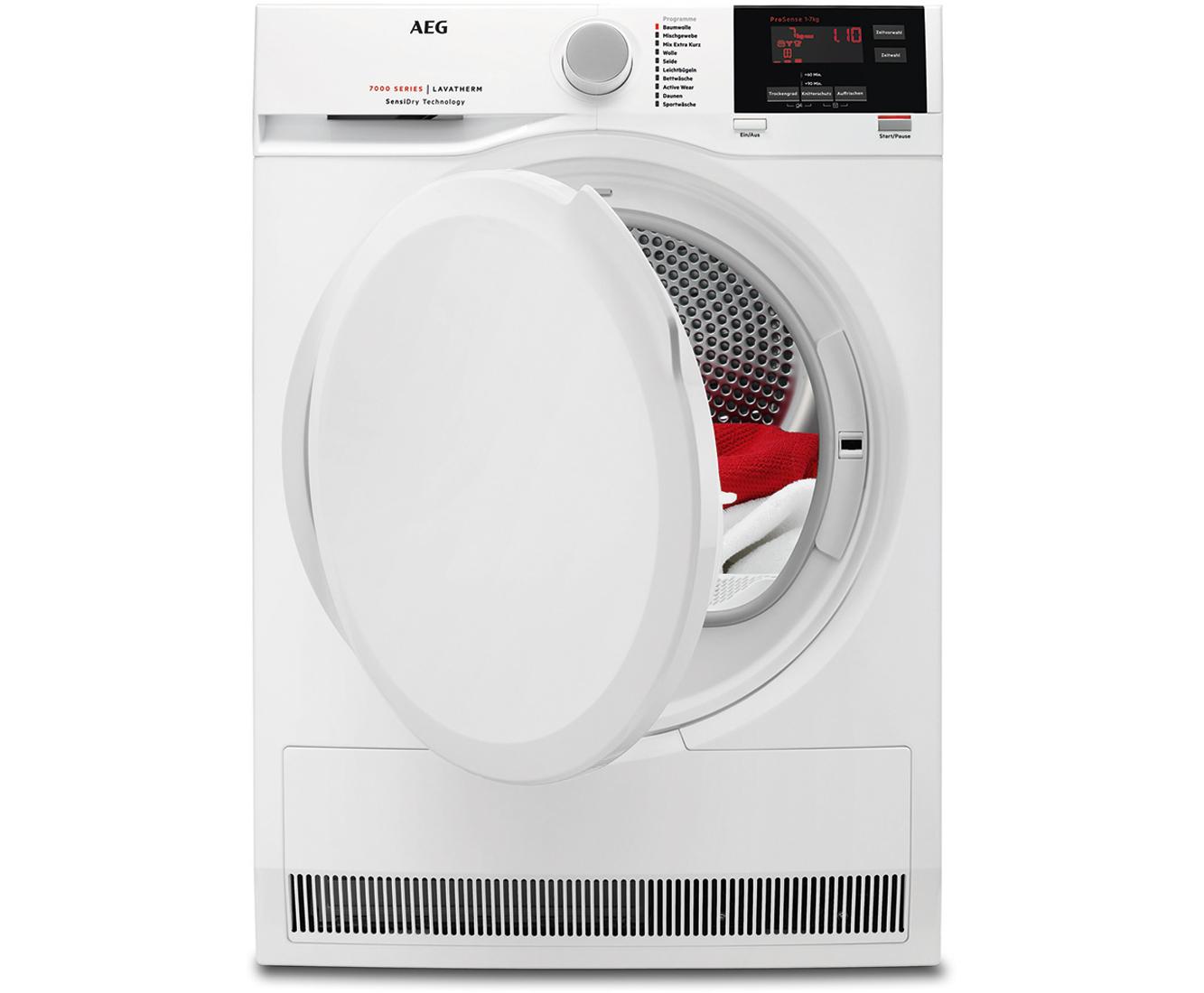 Aeg lavatherm t7db60470 wärmepumpentrockner 7 kg weiß a