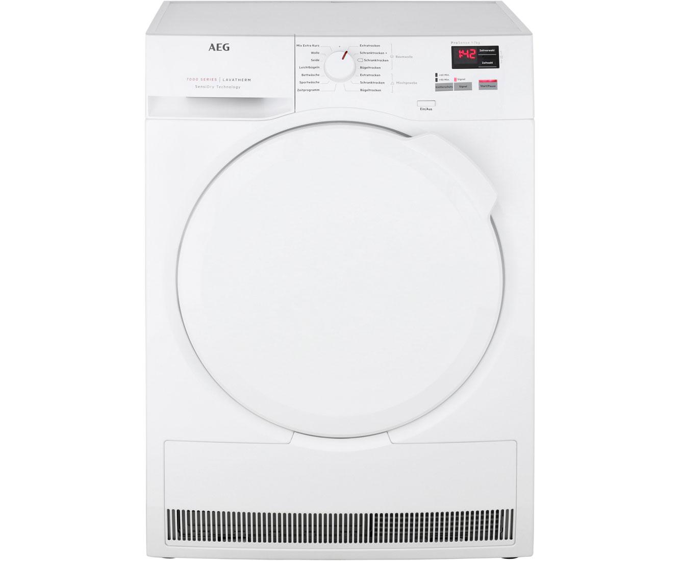 AEG Lavatherm T7DBA2 Wärmepumpentrockner - Weiß | Bad > Waschmaschinen und Trockner > Wärmepumpentrockner | Weiß | AEG