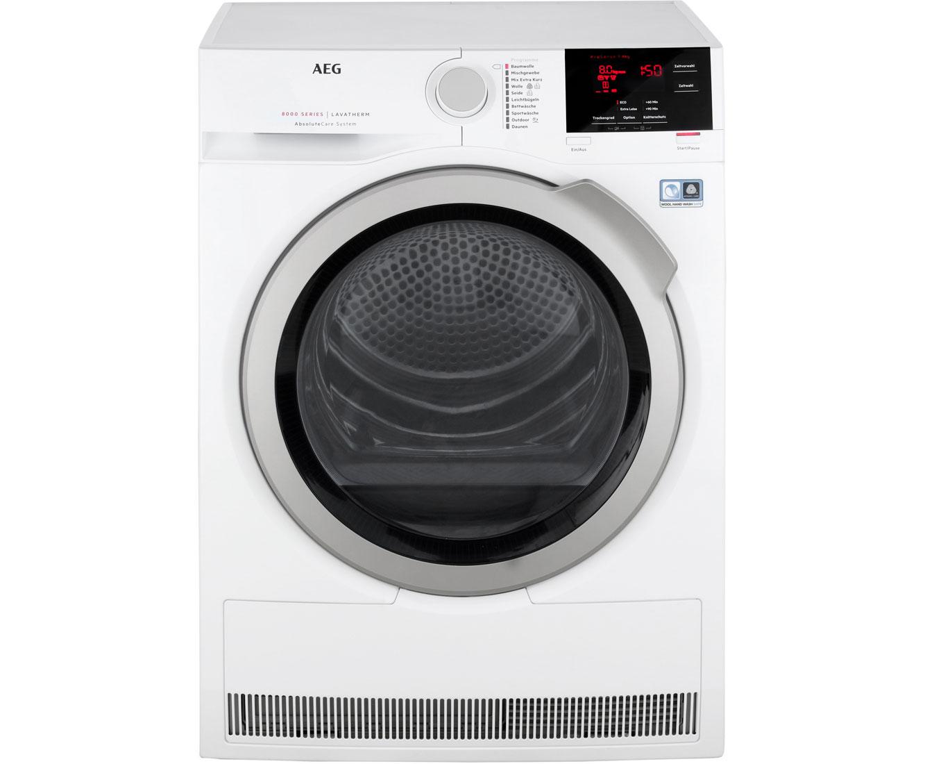 AEG Lavatherm T8DBA3 Wärmepumpentrockner - Weiß   Bad > Waschmaschinen und Trockner   Weiß   AEG