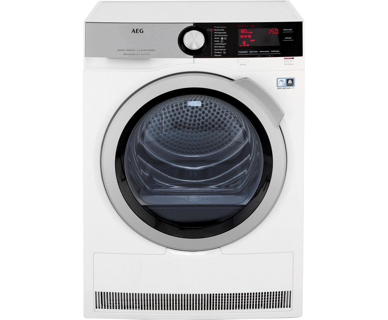 AEG Lavatherm T8DE86685 Wärmepumpentrockner - Weiß   Bad > Waschmaschinen und Trockner   Weiß   AEG
