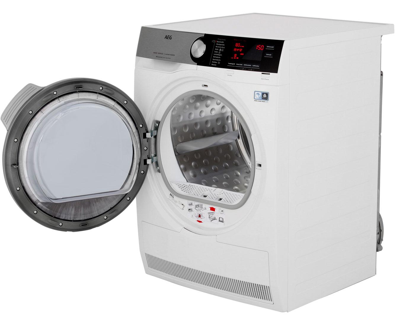Aeg lavatherm t de wärmepumpentrockner kg weiß a