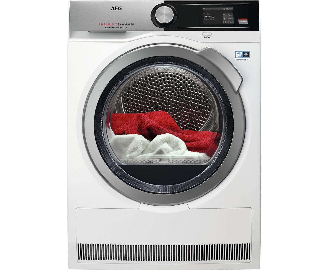 AEG T8DE96685 Wärmepumpentrockner - Weiß | Bad > Waschmaschinen und Trockner > Wärmepumpentrockner | Weiß | AEG