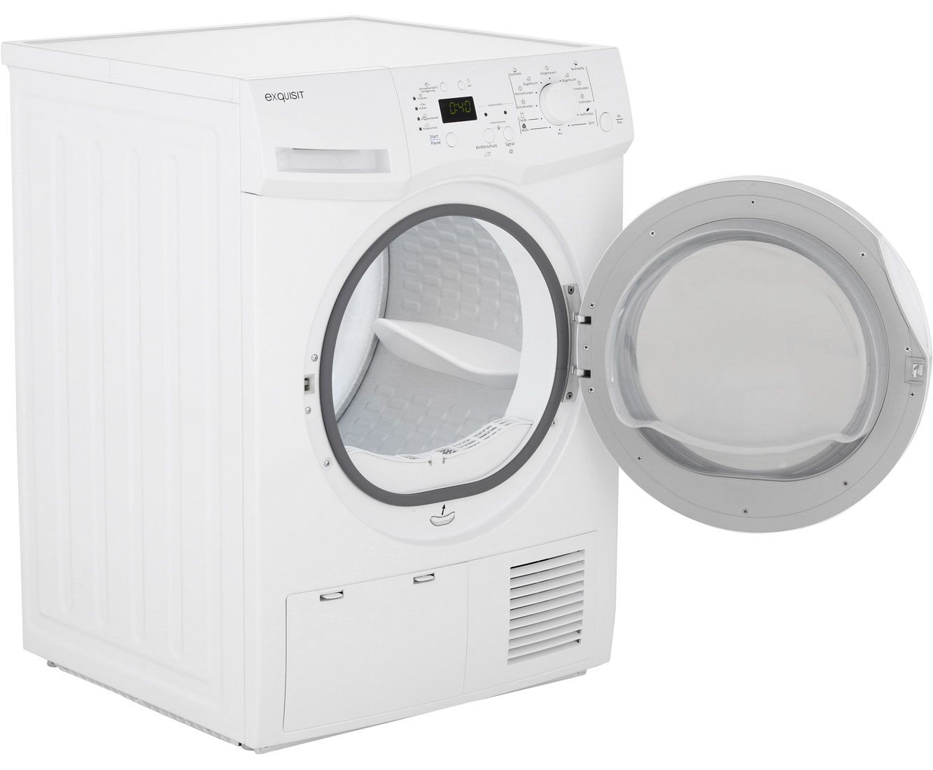Exquisit twp 801 3 wärmepumpentrockner 8 kg weiß a