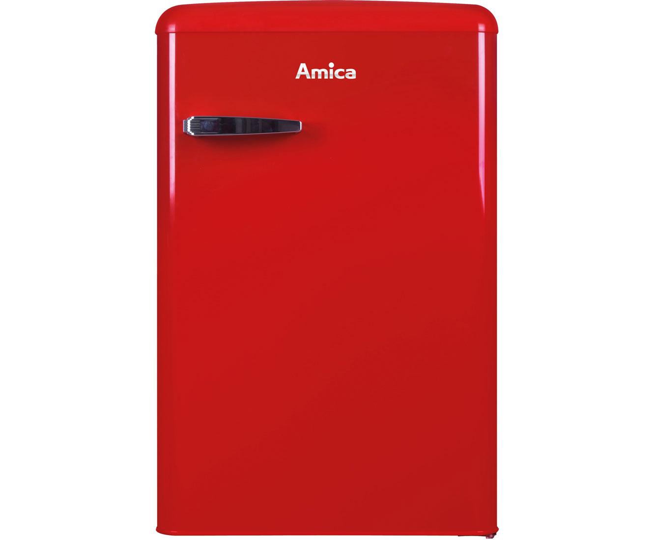 Retro Kühlschrank 85 Cm : Amica vks r kühlschrank rot retro design a
